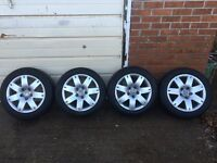 5x112 alloys with tyres 16 inch