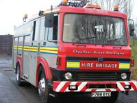 Two entertainment fire engines!