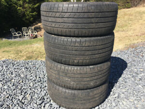 Four 215/45R18 Summer Tires Excellent Tread