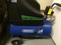 Draper oil free air compressor