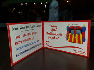 gift certificate for bouncy castle rental for pick up