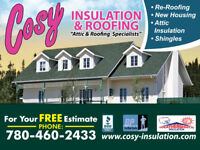 Attic Insulation & Re-Roofing Cosy Insulation & Roofing