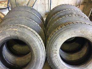 11R22.5 - set for sale!- Great condition truck tires