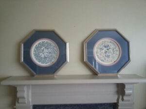Blue and White plates from Bombay Company.