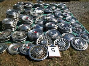 Pontiac wheel discs. 1960's to 90's.  $2 ea if you take all 90.