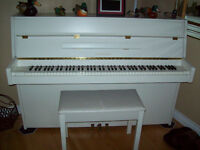 White Yamaha upright