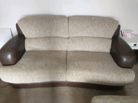 Free large 2 seater sofa & footstool