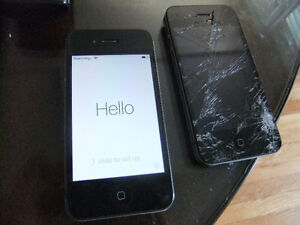 2 Iphones 4 for parts and One working HTC One M7
