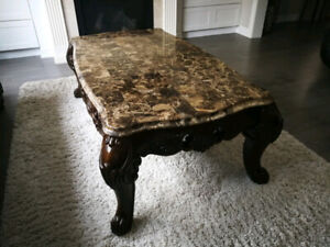 Marble Coffee Table Set (3 Piece)