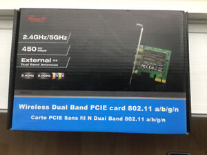 Wireless dual band pcie card