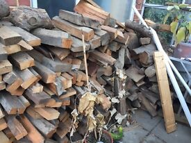 FREE. Firewood. Logs and construction wood. All cut to size