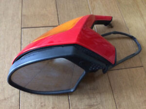 Ducati 749 LH Mirror assembly, Red