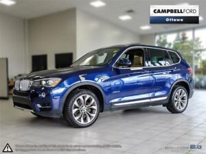 2016 BMW X3 xDrive35i ONLY 14, 000 KMS---IMMACULATE-LOADED