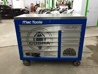 Limited edition signed by Carroll Shelby Mac tool box