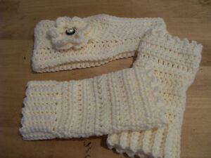 Crocheted Headband and Fingerless Gloves