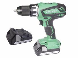 Hitachi DV18DGAL Combi Drill 18 Volt 2 x 1.5Ah Li-ion Perfect Christmas Gift Idea