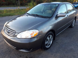 2003 TOYOTA COROLLA LUXURY EDITION APELLE / CALL 418 561-7222