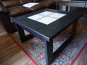 Hard Wood  Coffee Table with Ceramic in Centre