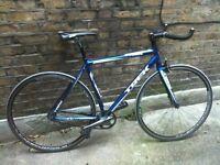 Ultra lightweight trek single speed bicycle custom trek 1.1 road racing bike