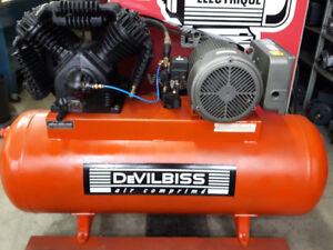 Compresseur devilbiss 7.5hp 230volts