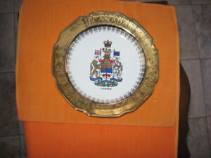 Canada Plate with Gold Edge excellent shape