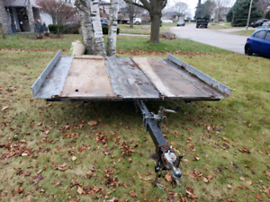 Snowmobile trailer. 2 place