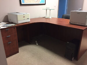 Office Furniture desk - filing cabinet