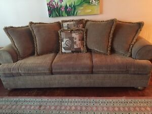Fabric brown sofa bed (negotiable)