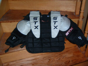 STX HOCKEY/LACROSSE GOALIE CHEST PROTECTOR EQUIPMENT ADULT SMALL