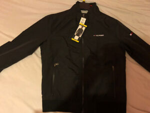 Brand New Man's Tommy Hilfiger Black Bomber Jacket Size S/P