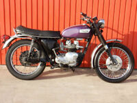 TRIUMPH TIGER 100C 490cc 1969 MATCHING ENGINE & FRAME NUMBERS