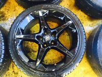 "18"" GENUINE VAUXHALL ASTRA VECTRA ZAFIRA SRI ALLOY WHEELS WITH TYRES"