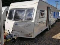 2009 Bailey Senator Louisiana Fixed ISLAND Bed Twin Axle Caravan