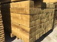"""Tanalised •New• Wooden Fence Posts •4""""X 4""""X 2.4M•"""