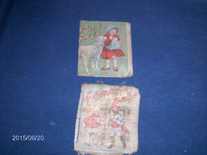2 VINTAGE CLOTH BOOKS-1926-SAALFIELD CO.-FOND PETS-RHYMES BABY