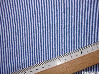1 Lfm Jersey 2,65€/m² blau, weiß Baumwolle 150cm breit  CL37