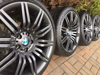 "GENUINE BMW SPIDER 19"" M SPORT ALLOY WHEELS AND TYRES 5 6 Series E60 E61 M Sport Spyder"