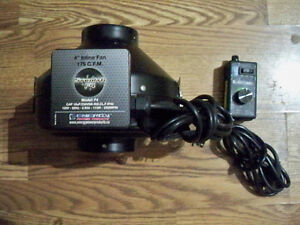 "Stealth F4 4"" Inline Fan Blower & Speedmaster Speed Controller"