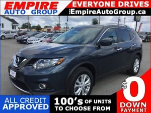 2016 NISSAN ROGUE SV * AWD * REAR CAM * PANO SUNROOF * LOW KM