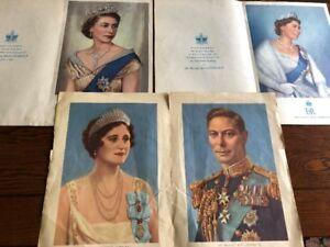 Vintage Toronto Star Royal Family Queen Inserts