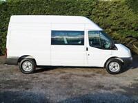 2013 (63) FORD TRANSIT T350 R.W.D LWB HIGH ROOF 9 SEAT CREW VAN 125ps