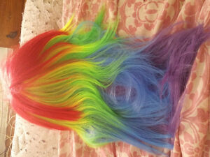 Rainbow wig high quality