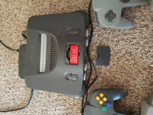 N64 with 4 controllers