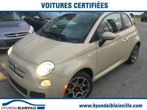Fiat 500 LOUNGE CUIR,TOIT PANO,BLUETOOTH,MAGS 2012