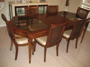 7 Pc. Cherry Wood Dining Set 5 Years Old