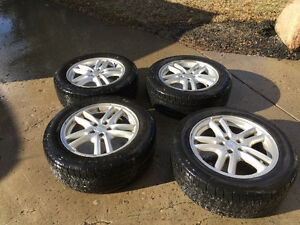 215/55r16  Subaru tires and wheels for sale