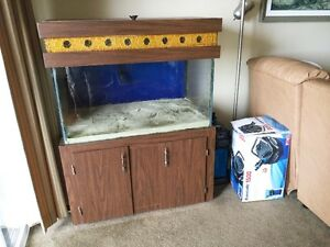 65 gallon aquarium with cabinet, canopy and much more!