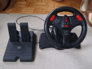 V3 Gaming Steering Wheel and Pedal