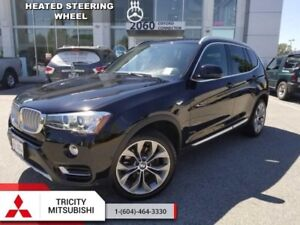2017 BMW X3 xDrive 28i  SUNROOF-HEATED LEATHER-REAR CAM