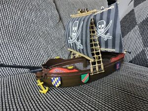 PIRATE SHIP WITH CLOTH SAILS, LARGE.